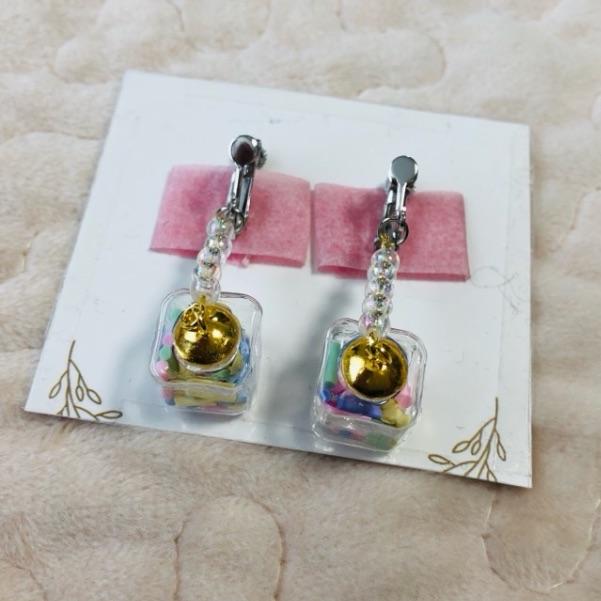 ガラスドームのイヤリングの作り方・手順7-2