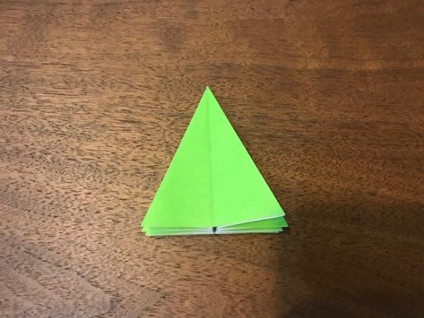 折り紙のツリー立体の簡単な折り方8