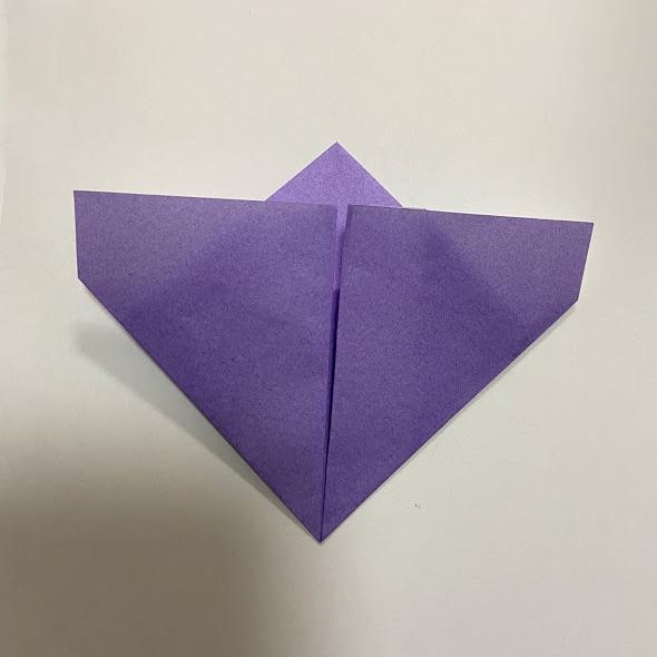 折り紙でハートのお手紙の作り方4