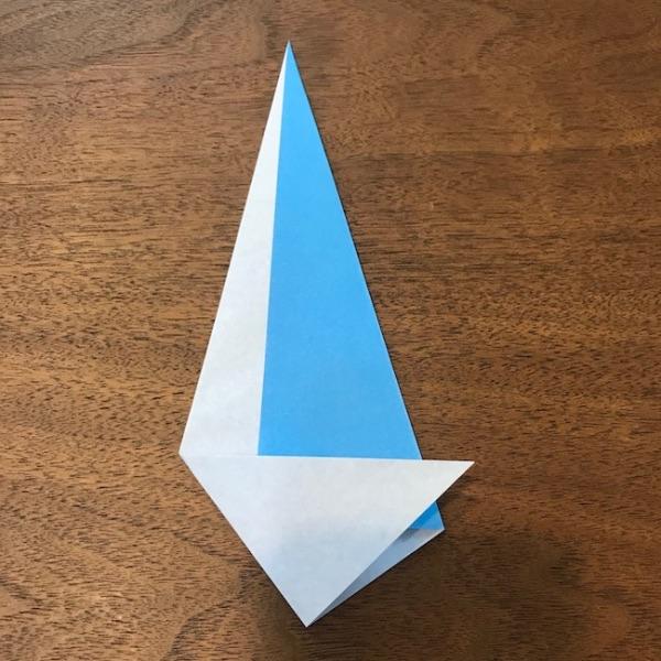 折り紙ペンギン立体の作り方・手順6