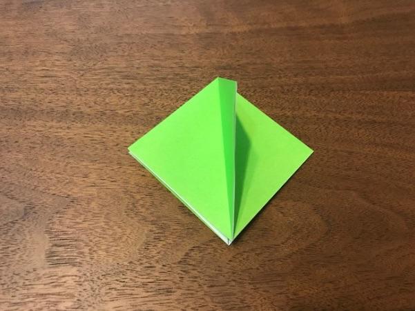 折り紙のツリー立体の簡単な折り方5
