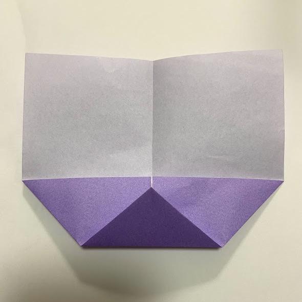 折り紙でハートのお手紙の作り方3
