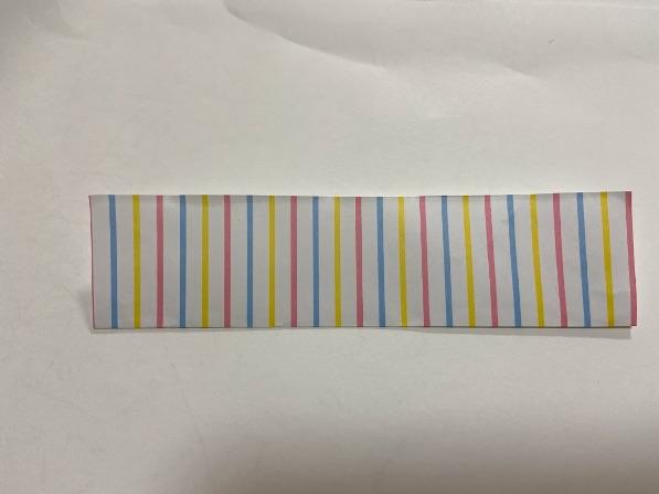折り紙でリボンの折り方・手順2