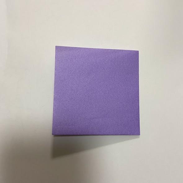 折り紙でハートのお手紙の作り方1