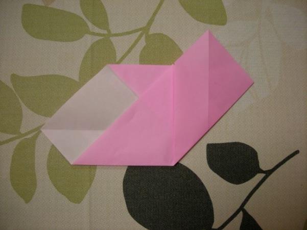 ハートの折り方9
