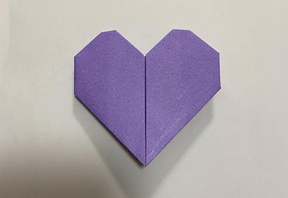 折り紙でハートのお手紙
