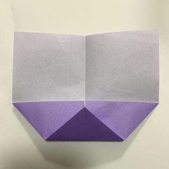 折り紙でハートのお手紙の作り方2