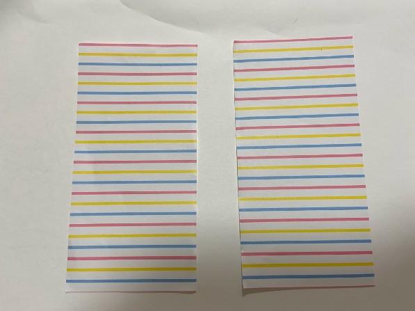 折り紙でリボンの折り方・手順1