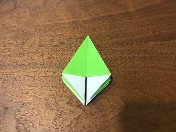 折り紙のツリー立体の簡単な折り方7