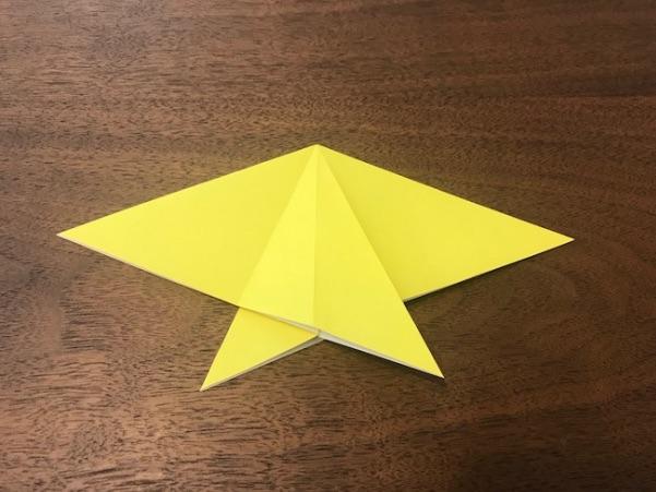 折り紙で星の折り方7