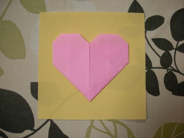 ハートの折り紙のサイズ