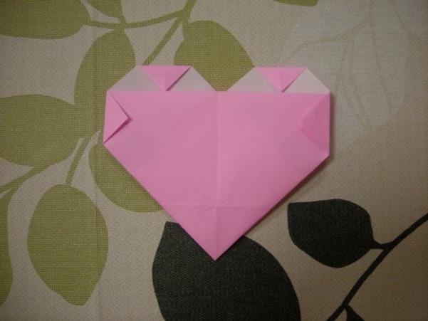 ハートの折り方14