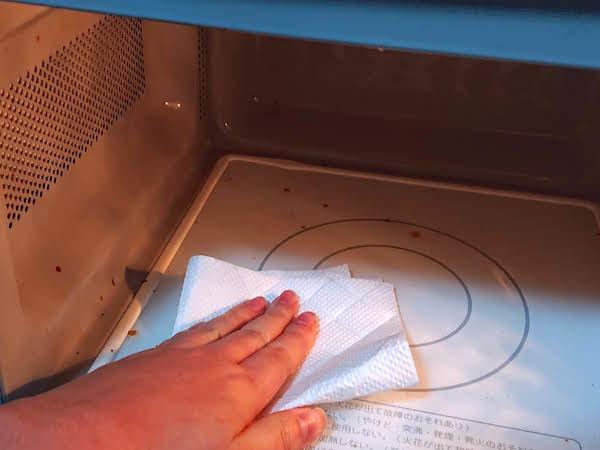 電子レンジ庫内掃除に重曹を使うやり方6