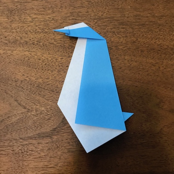 折り紙ペンギン立体の作り方・手順9
