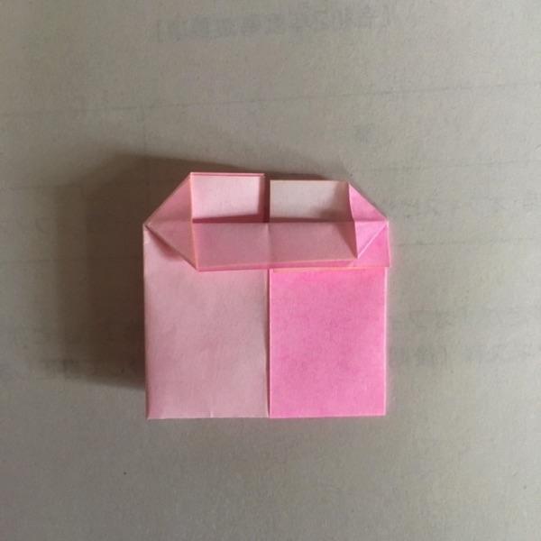 折り紙 2色ハートの折り方10