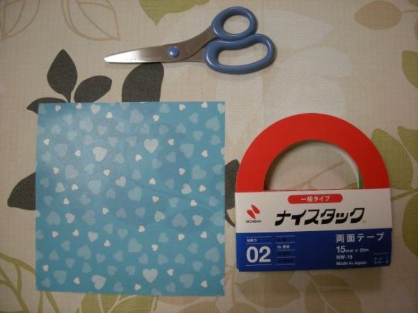 折り紙ギフトバッグの材料・用意するもの