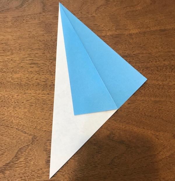 折り紙ペンギン立体の作り方・手順3