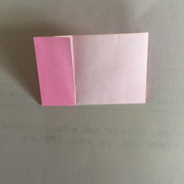 折り紙 2色ハートの折り方4