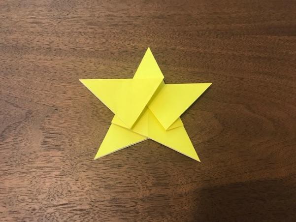 折り紙で星の折り方14