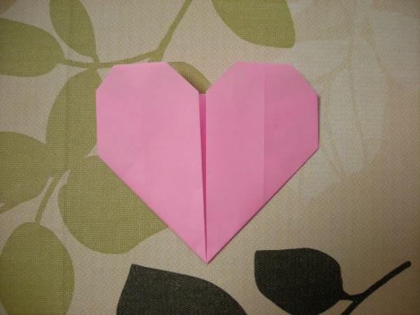 折り紙の平面ハート