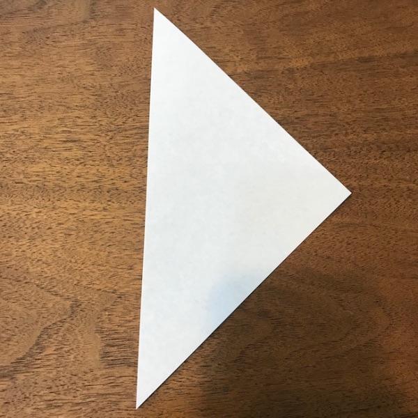 折り紙ペンギン立体の作り方・手順2