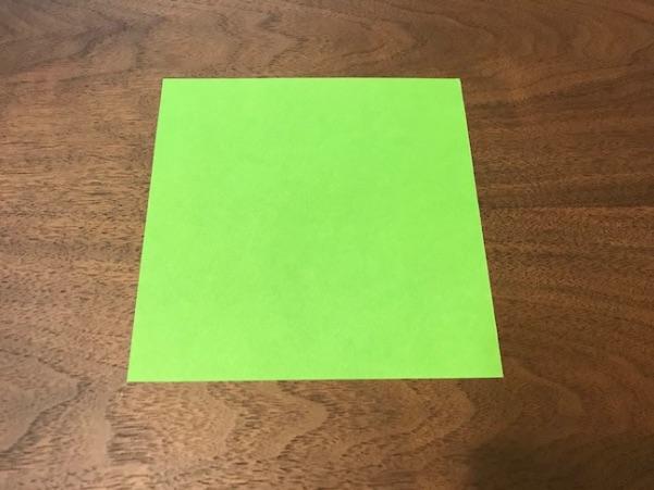 折り紙のツリー立体の簡単な折り方1