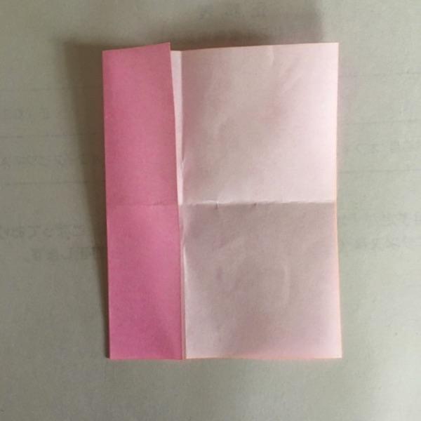 折り紙 2色ハートの折り方3