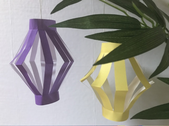 笹飾りの折り紙ちょうちん1