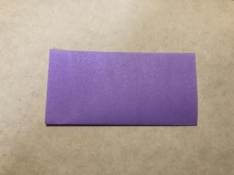 七夕の折り紙ちょうちんの作り方1