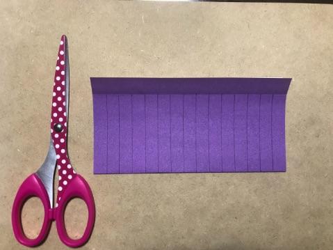 提灯折り紙の切り方