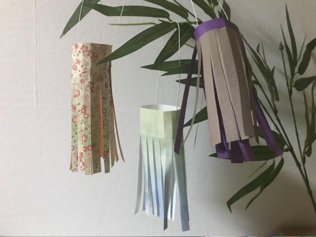 七夕飾りの折り紙の吹き流し