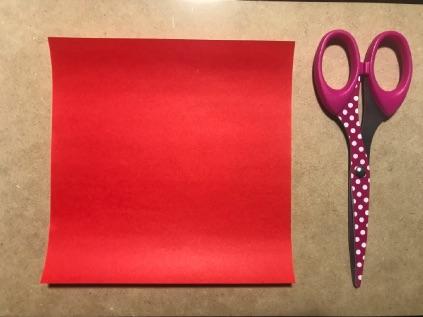 金魚の折り紙 用意するもの