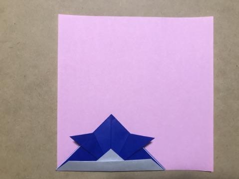 折り紙兜のサイズ感