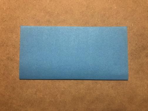 七夕飾りの貝殻 折り紙の手順1