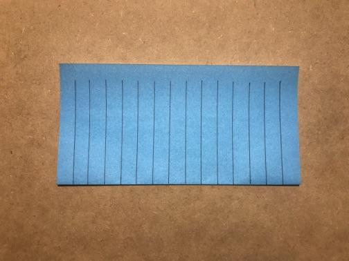 七夕飾りの貝殻 折り紙の手順2