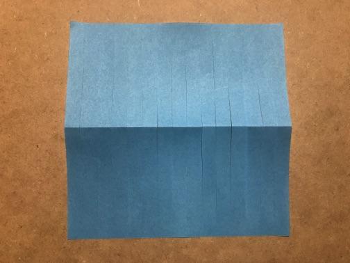 七夕飾りの貝殻 折り紙の手順3