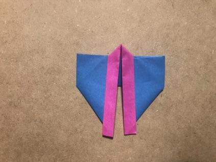 七夕の折り紙の着物 出来上がり