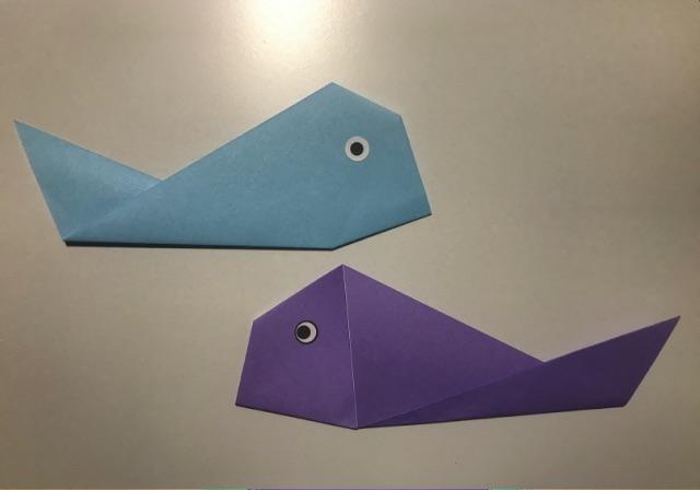 折り紙で簡単に折れる魚