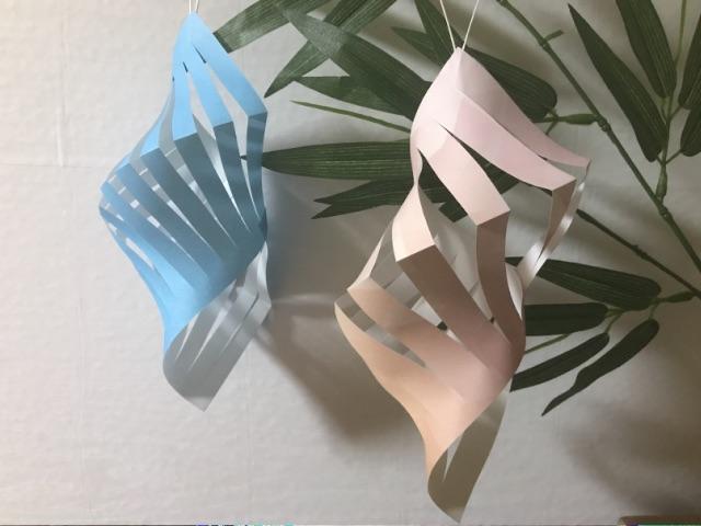 七夕飾りの折り紙の貝殻