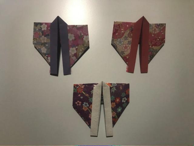 七夕の折り紙の着物