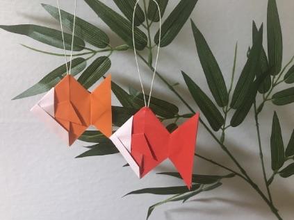 七夕の折り紙の金魚