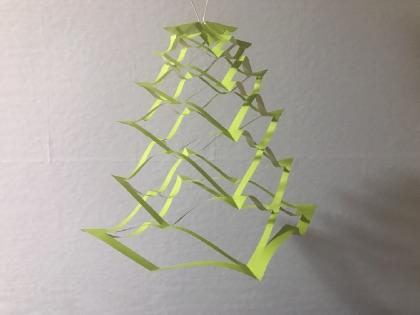 七夕折り紙の網、完成したもの