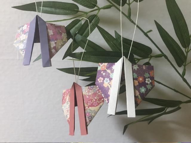 七夕飾りの折り紙の着物