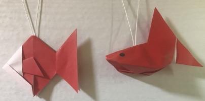 金魚の折り紙