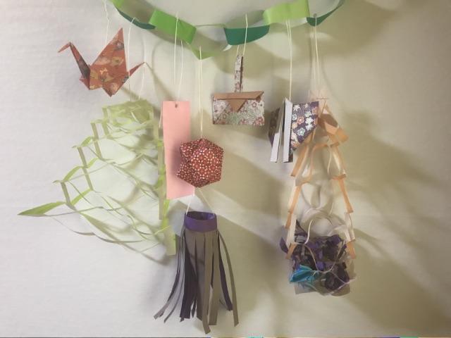 仙台七夕飾りの折り紙 ガーランド
