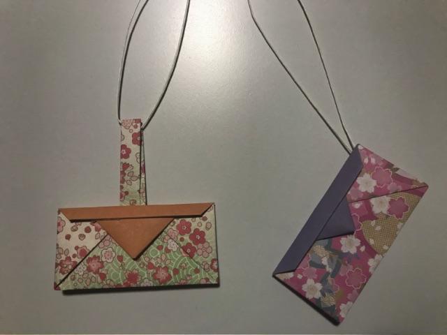 仙台七夕飾り 折り紙の巾着