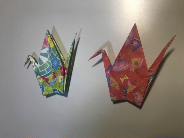 仙台七夕飾りの折り鶴